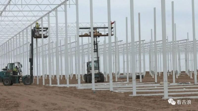海升集团现代智能温室示范项目建设势头正劲(古浪)2