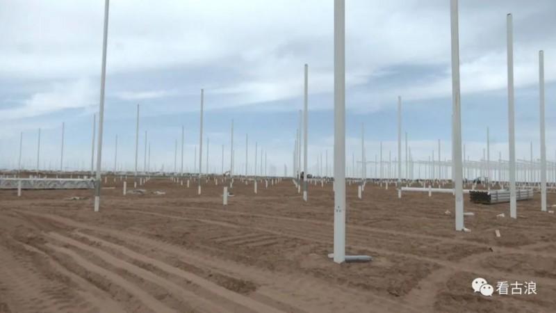 海升集团现代智能温室示范项目建设势头正劲(古浪)5